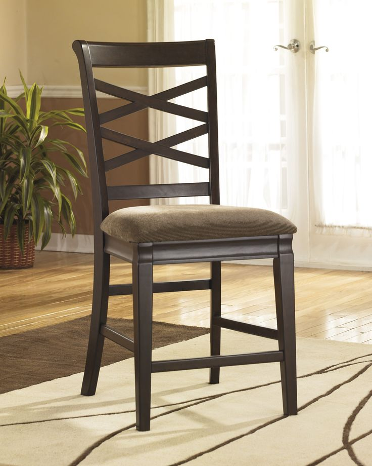 The Hayley Counter Height Stools Have Plush Chenille Upholstered Seat Cushions