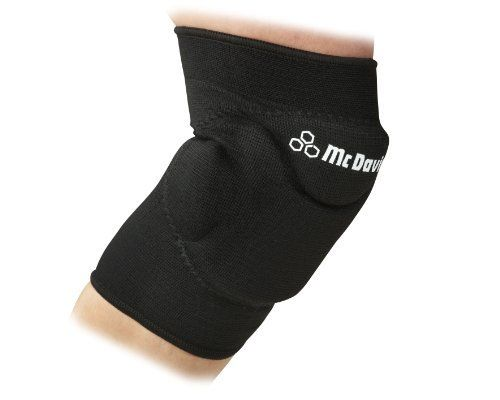 McDavid Deluxe Flex Knee Pad by McDavid. $16.99. Fits right or left knee. Perfect for volleyball and basketball. Low profile design  for superior fit.. Use for all activities requiring knee protection including paintball and MMA. Includes one pair. Deluxe flex knee pad with contoured foam padding encased in nylon/spandex sleeve.