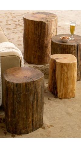 Simplest is better... Mesitas hechas de antiguos postes de teléfono reciclados • Side Tables