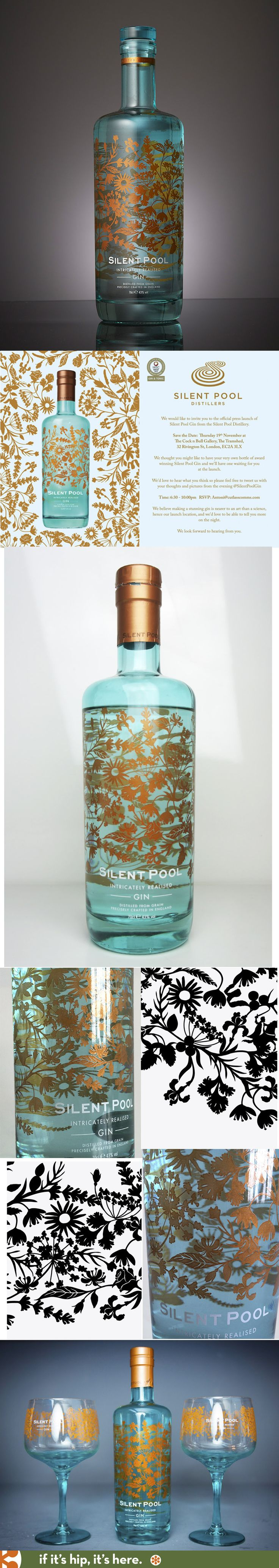 Silent Pool Gin with bottle design by Laura Barrett and agency SeymourPowell PD