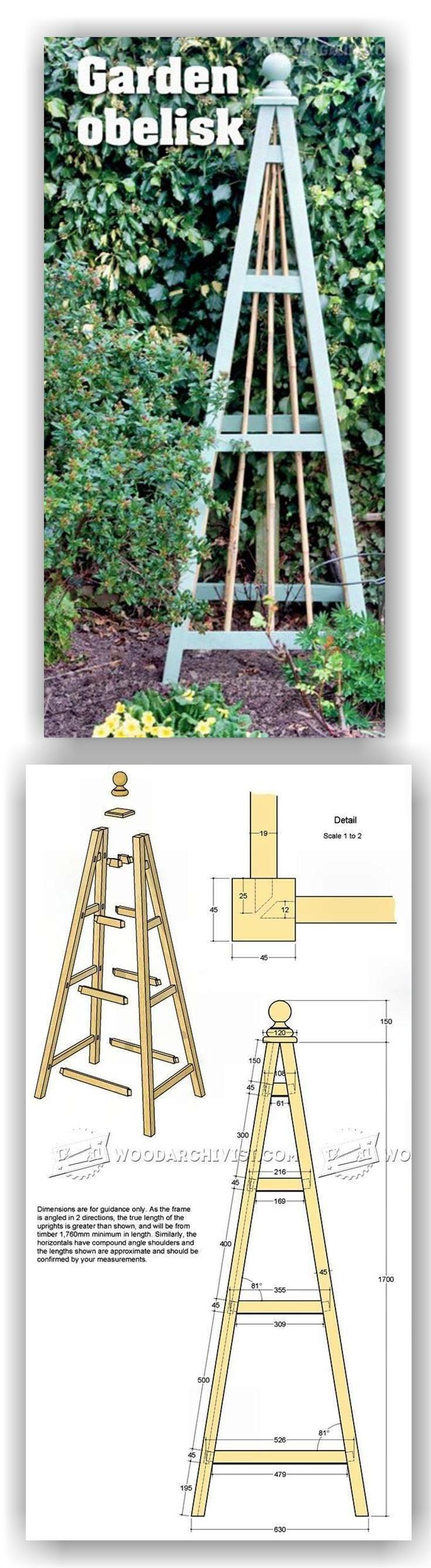 Garden Obelisk Plans - Outdoor Plans and Projects   WoodArchivist.com