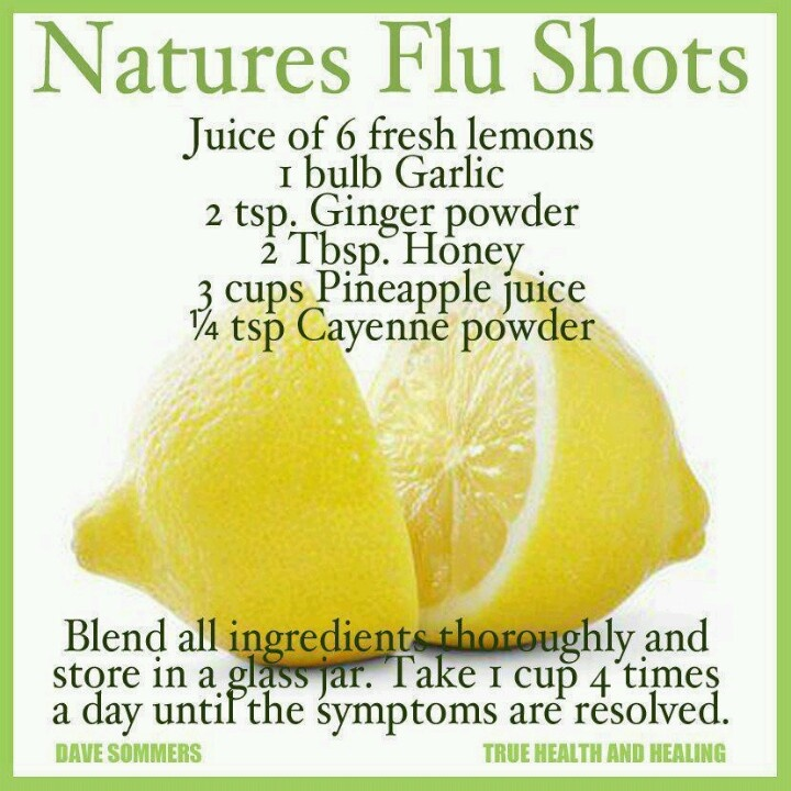 Nature's flu shot - wonder if this works?