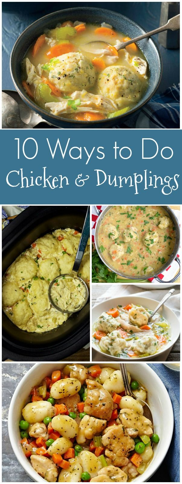 Recipes for Classic Chicken and Dumplings, Paleo Chicken and Dumplings, Chicken and Dumpling Casserole, Chicken and Dumpling Soup, Clean Eating Chicken and Dumplings, Chicken and Cornmeal Herb Dumplings, Gluten Free Chicken and Dumplings and more!