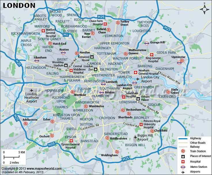 City map London Center