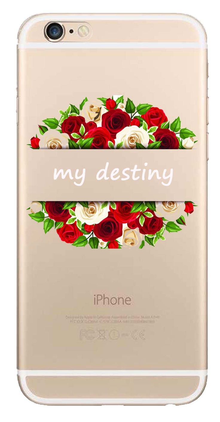 Whatskin DIY Style Color Drawing Flowers Series 04 Clear Back Cover for iphone 6