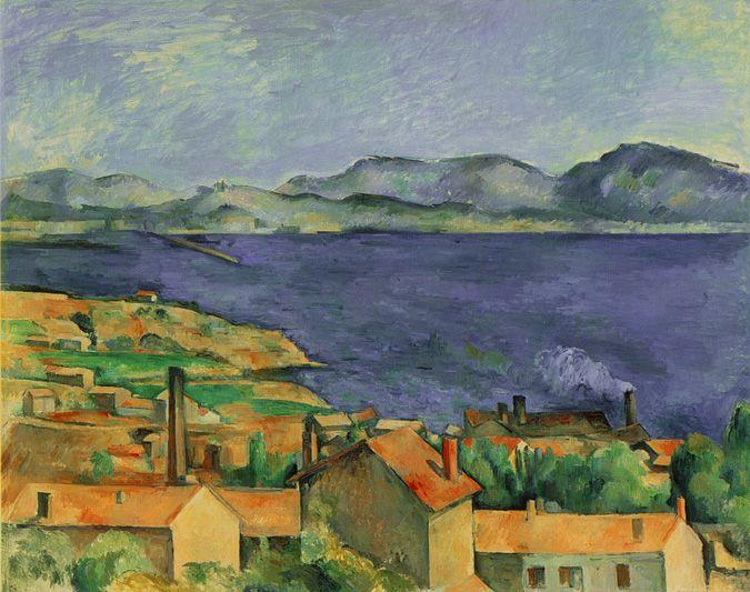 Cézanne era innamorato della Provenza, sua terra natale e la raffigurava spesso come in questo scorcio marino, dipinto vicino Marsiglia