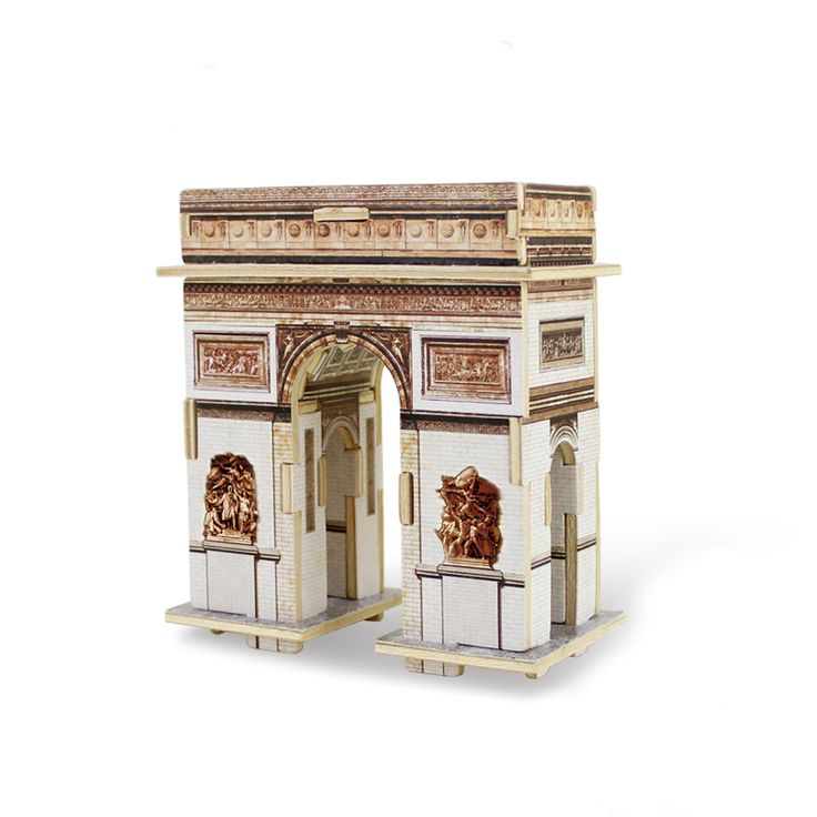 Best 3D Wooden Triumphal Arch Building Puzzle Toys for Kids for sale at Oitems.com