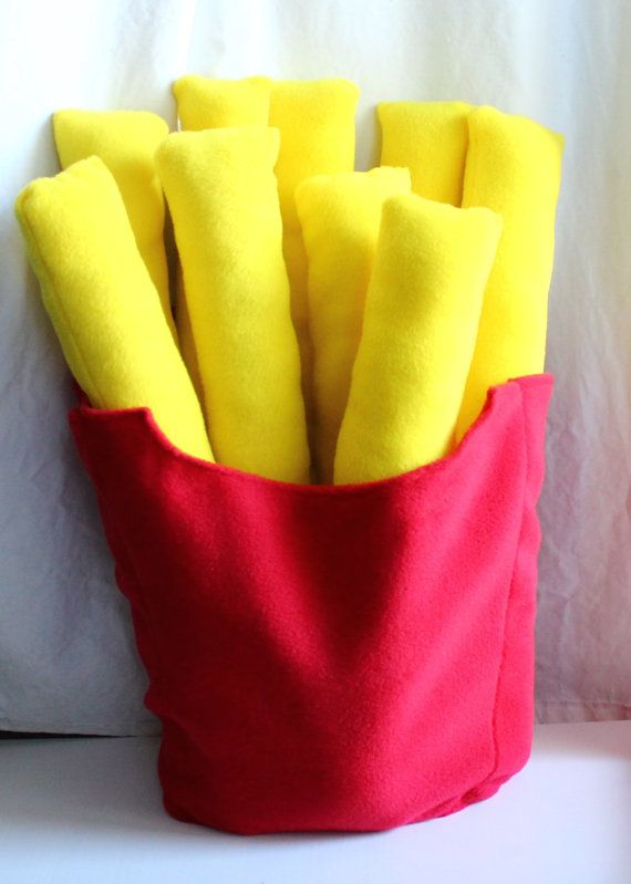 French fry plush Fries pillow Giant fries by SparklesAndSpooks