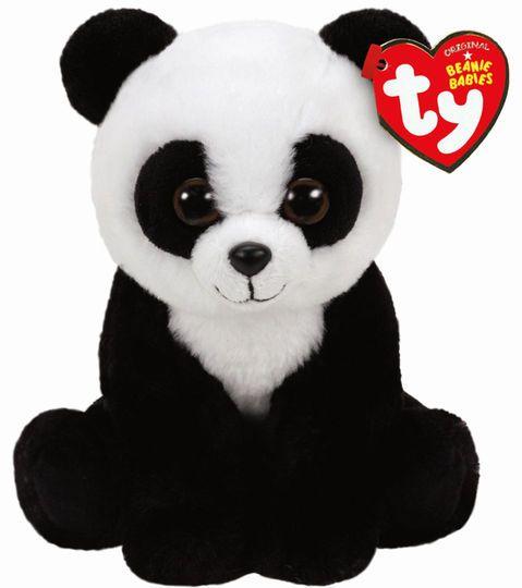 Ty Original Beanie Babies Black & White Baboo Panda, Regular