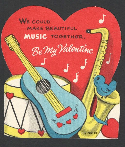 126 best images about Vintage valentine Cards Music Dancing – Valentine Musical Cards