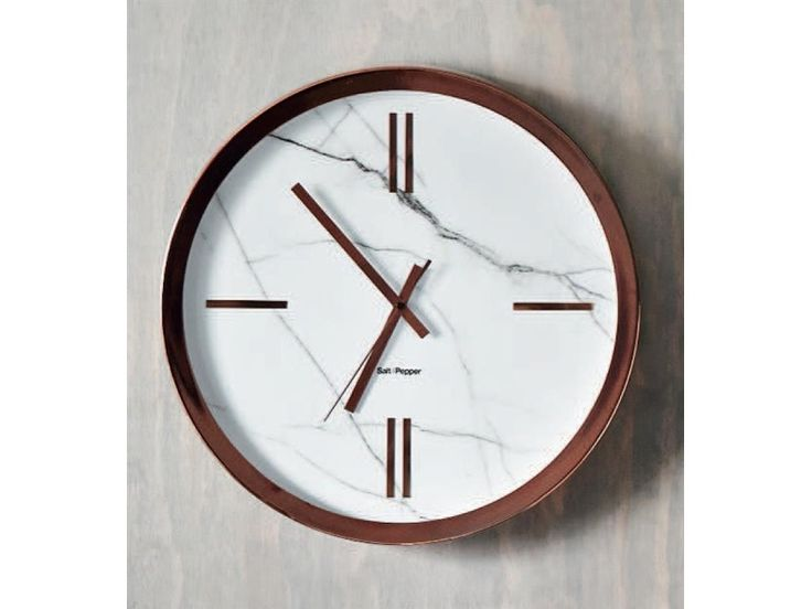 S&P Rose Gold and marble clock