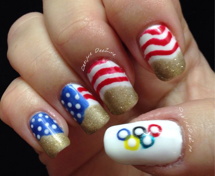 652 best nail art i 3 images on pinterest nail art nailart and 11 olympic nail art ideas for all the gold medal manicurists out there prinsesfo Image collections