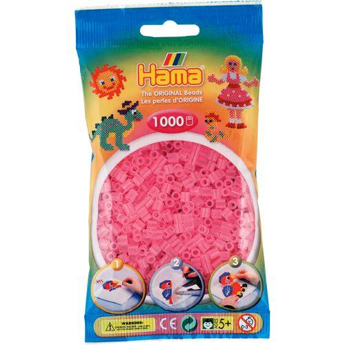 Hama 207-72 Strijkkralen 1000 Roze transparant