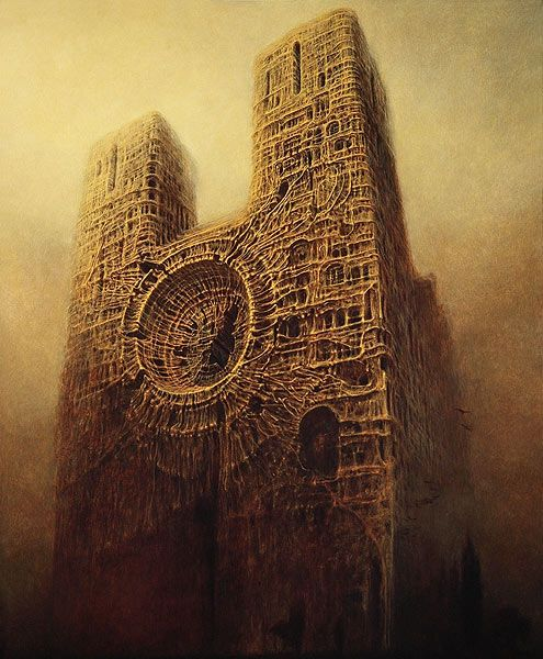 ZdzislawBersinski. Painting. Art. Fantasy. Surrealism.
