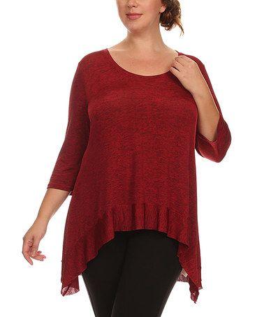 Look at this #zulilyfind! Red Sidetail Tunic - Plus #zulilyfinds