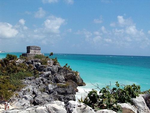 Ancient civilization - Mayan ruins in Tulum near Cozumel Mexico