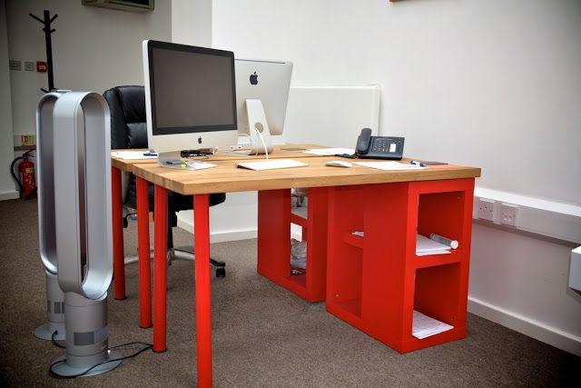Solid oak desk for a designer - IKEA Hackers - IKEA Hackers
