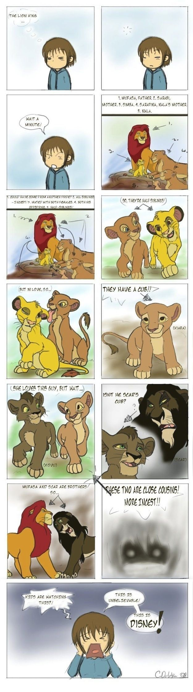 The Lion King was full of incest. | 25 Childhood-Ruining Moments You Forgot About