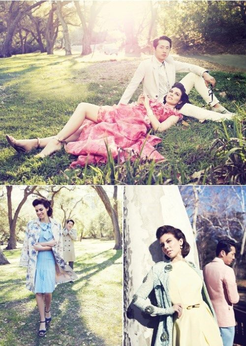 Steven and Lauren Model Spring Fashion for LA Magazine