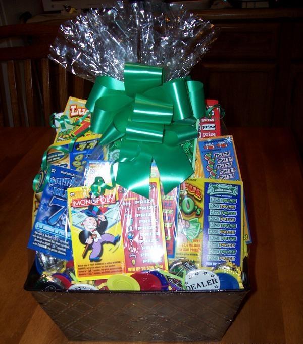 Lottery Card Gift Basket Gift Ideas Raffle Baskets