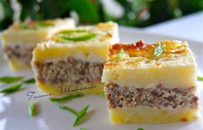 Bramborový slaný koláč s mletým masem | NejRecept.cz