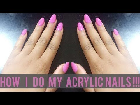 How I Do My Acrylic Nails at Home {Beginner Friendly} | BeautybyTommie - YouTube