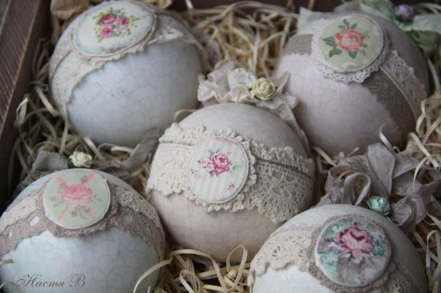 Шкатулка с Новогодними шариками - Ярмарка Мастеров - ручная работа, handmade