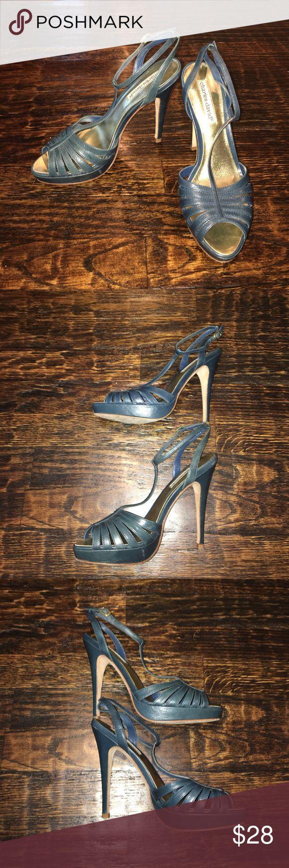 Charles David Teel Heels Stunning Charles David teel leather heels. In great condition. Heel measures 4 1/2 inches. Charles David Shoes Heels