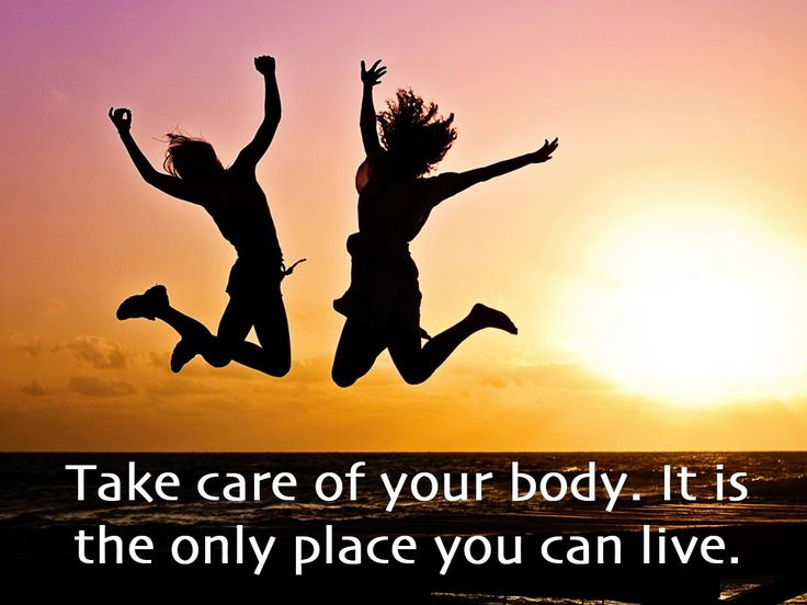 Take care of your body. It is the only place you can live. #SundayMotivational #HealthHub
