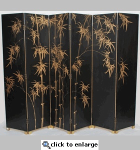 Oriental Folding Screen Dividers (Chinese 6-Panel Folding Room Divider Screen)
