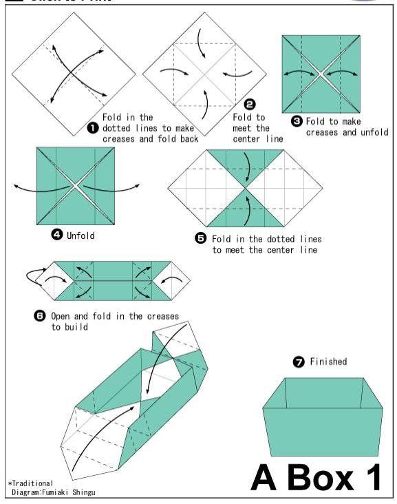 Presentes Pro Ado Origami Caixa Origami Pinterest Origami