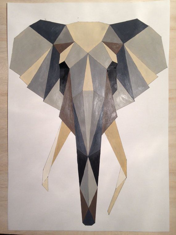Geometric Elephant Poster on artrebels $40-$63