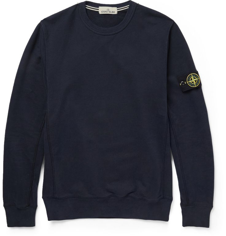 Stone Island Fleece-Backed Cotton-Jersey Sweater