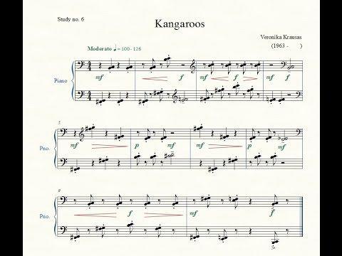 Study no. 6: Kangaroos - Veronika Krausas - Piano Studies/Etudes 2