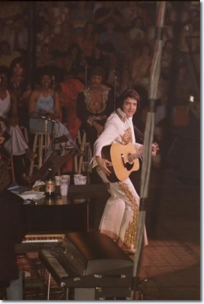 Elvis in Concert June 26, 1977, his last concert on earth. But, I imagine He is singing with the Angels in Heaven.