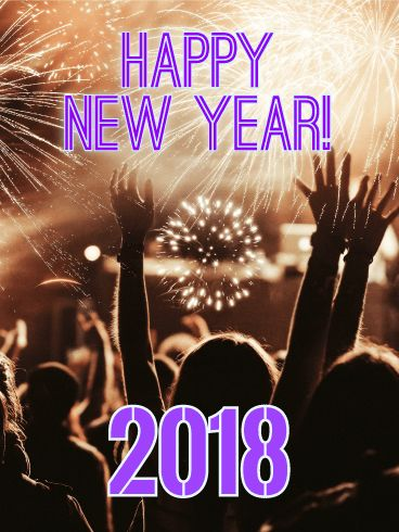 Elegant Happy New Year Card 2018: Raise Your Hands If You
