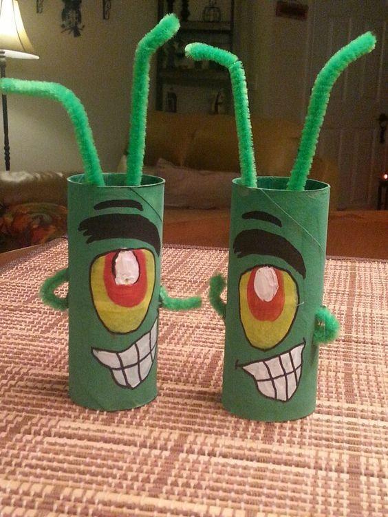 plankton toilet paper craft