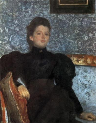 Portrait of Countess Varvara Musina-Pushkina - Valentin Serov, 1895 - Russian Museum, St. Petersburg