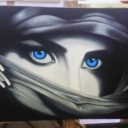 Colorful Eyes I! Fantastisk handmålad tavla på ett kvinnoansikte. De gråa färgerna och blåa ögonen gör att tavlan blir stilren samtidigt som den är iögonfallande!  Länk till produkt: http://www.feelhome.se/produkt/colorful-eyes-i/    #Homedecoration #Canvas #olipainting #art #interior #design #Painting #handpainted #Walldecor #väggdekor #interiordesign #canvastavla #canvastavlor #face #blue #girl #woman #Colorful #Eyes #ögon #ansikte#Vardagsrum #kontor #svartvit #blåaögon