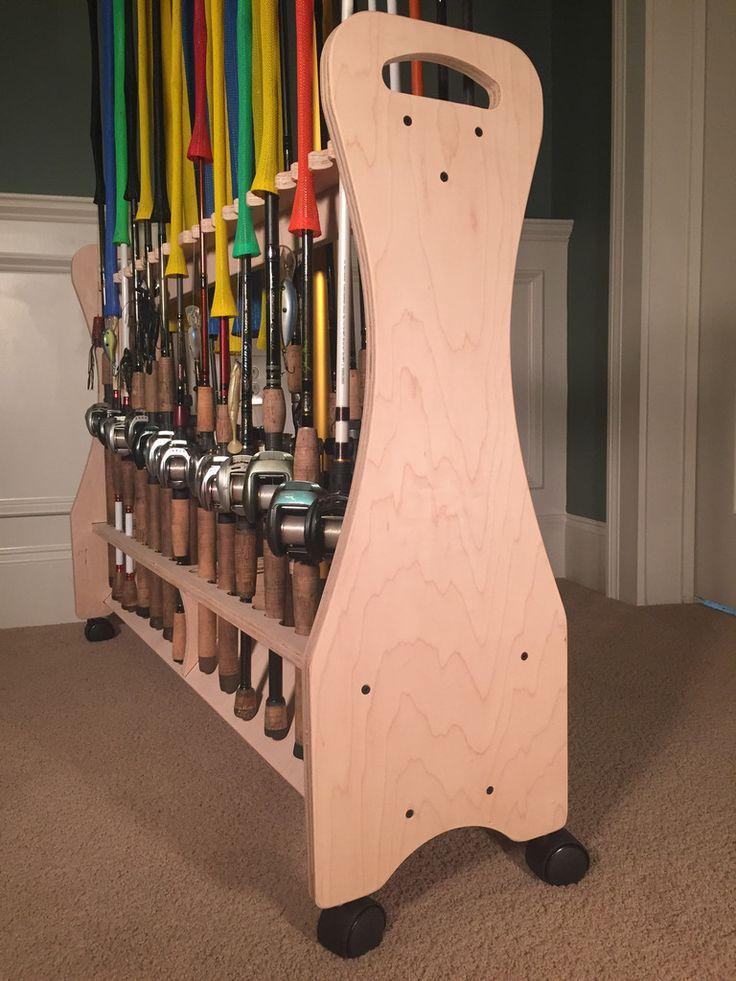 25 unique fishing rod rack ideas on pinterest rod rack for Fishing rod storage