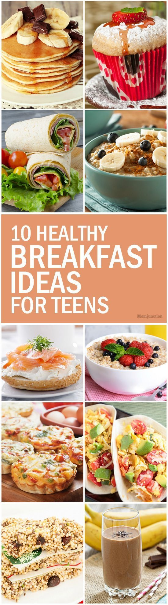 10 Healthy Breakfast Ideas For Teens: Here are ten simple recipes for whipping up the perfect power breakfast for your teen in a jiffy. Go ahead and check them out!