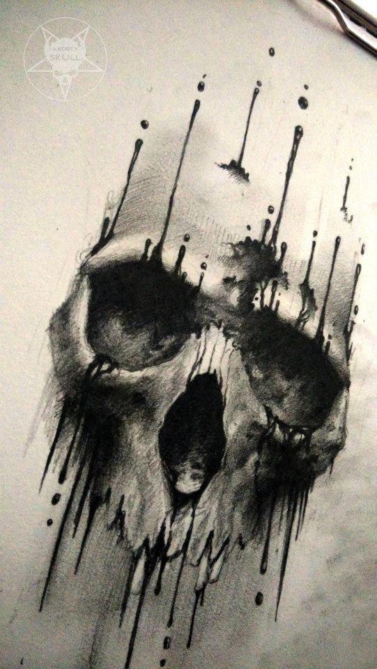 ink skull 2 by AndreySkull.deviantart.com on @DeviantArt
