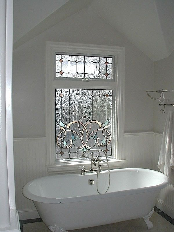 Awesome Bathroom Window Ideas Small Bathrooms Part - 5: Los Gatos Traditional Privacy Stained Glass - For Bathroom