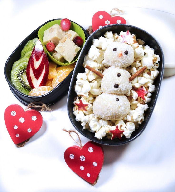 Cute Coconut Snowman in my Bento ☃ ❄ ☃ ❄ !