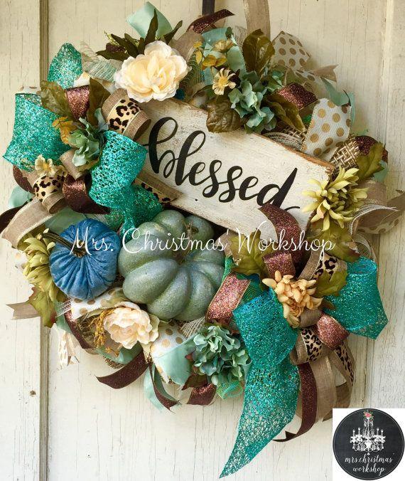 Best 25 Fall burlap wreaths ideas on