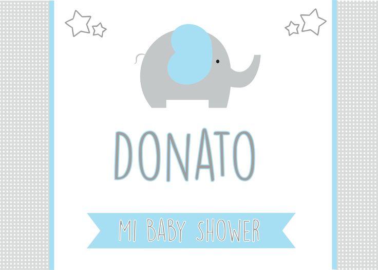 Cartel De Bienvenida Para El Baby Shower De Donato
