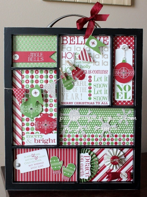 Stampin' with Paula: Christmas Printer's Tray