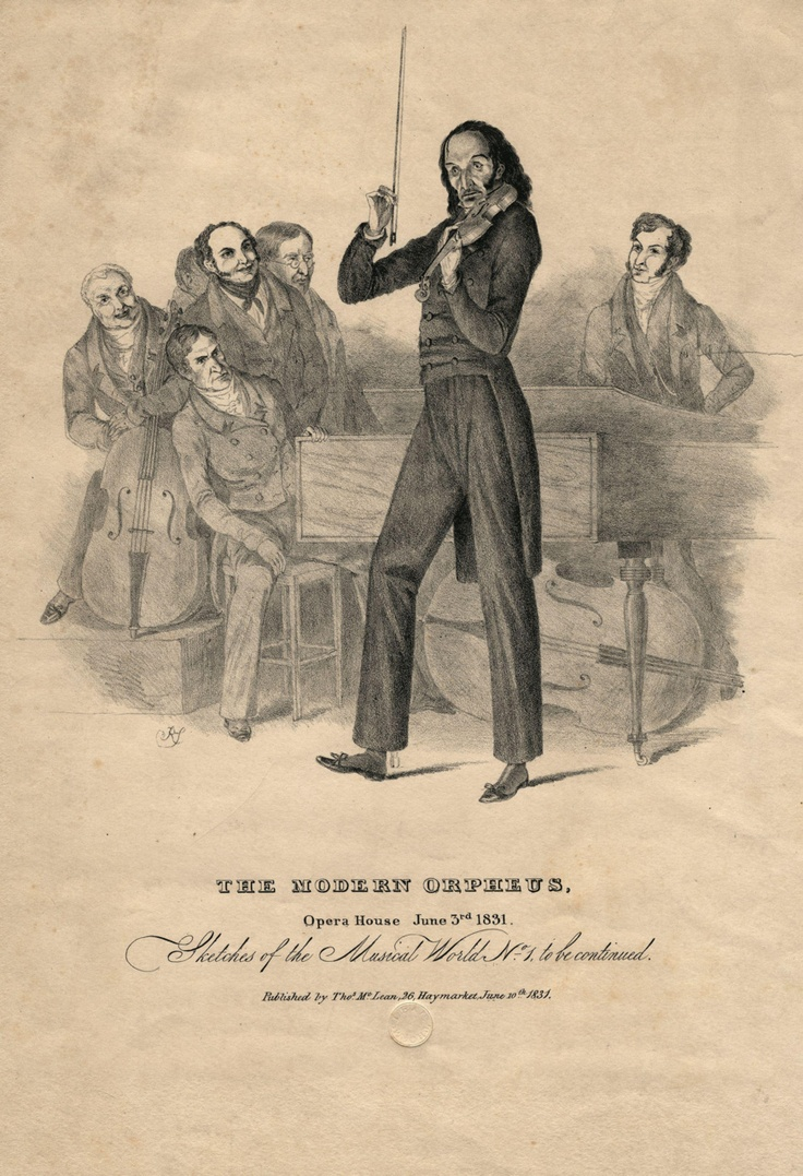 Niccol� (or Nicol�) Paganini (17821840), Italian Violinist, Violist