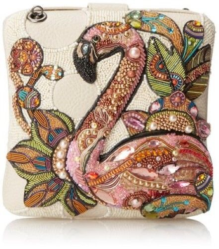 Mary Frances Handbag Pink Flamingo White Beaded Jeweled Sequined Shoulder Bag in Clothing, Shoes & Accessories, Women's Handbags & Bags, Handbags & Purses | eBay