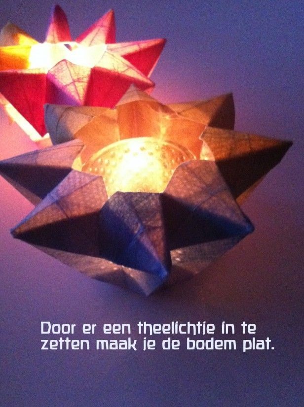 Lichtje vouwen / fold a candle light. Complete beschrijving / complete tutorial.